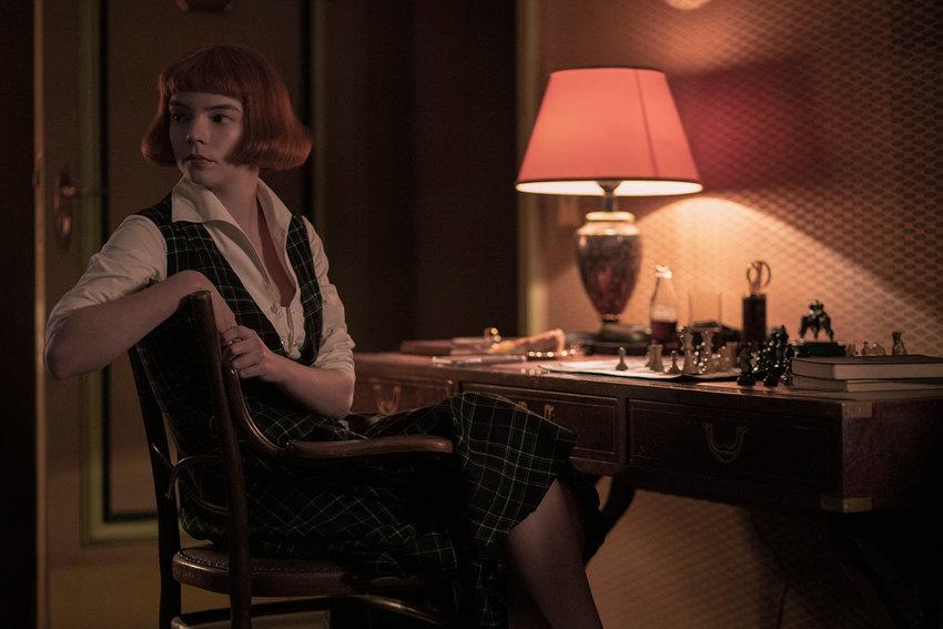 "Anya Taylor-Joy stars in ""The Queen's Gambit,"" on Netflix. (Phil Bray/Netflix/TNS)"