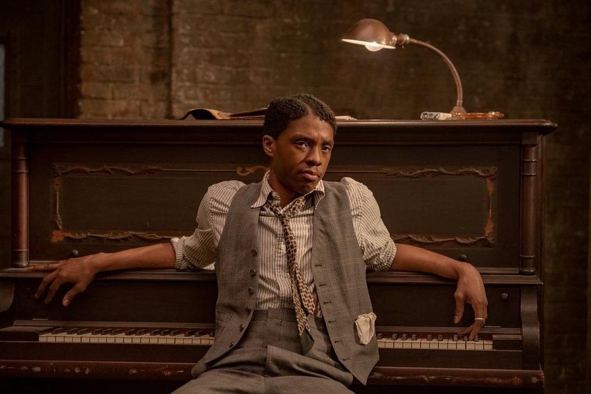 "Chadwick Boseman as Levee in ""Ma Rainey's Black Bottom."" (David Lee/Netflix/TNS)"