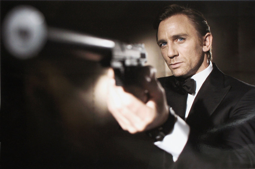 """In this undated handout photo from Eon Productions, actor Daniel Craig poses as James Bond. Craig was unveiled as legendary British secret agent James Bond 007 in the 21st Bond film, """"Casino Royale,"""" at HMS President, St Katharine's Way on October 14, 2005, in London, England. (Greg Williams/Eon Productions/Getty Images/TNS)"""
