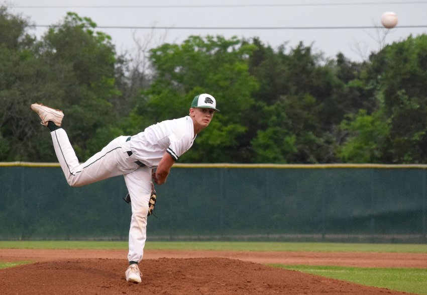 Blake Burton tossed six innings, striking out three with three walks and allowed two runs in Cedar Park's 10-2 win against Rouse on Tuesday night.