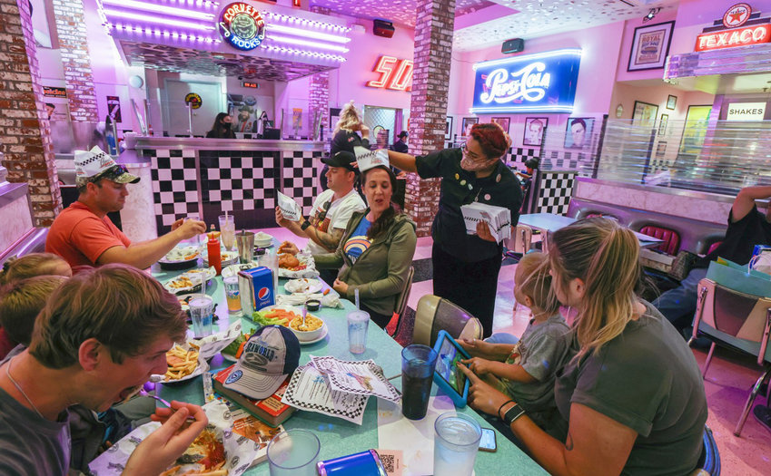 Corvette Diner, which only recently reopened for indoor dining at Liberty Station, had a tough time finding employees at a time when restaurants and other hospitality businesses are all competing for workers. (Eduardo Contreras/San Diego Union-Tribune/TNS)