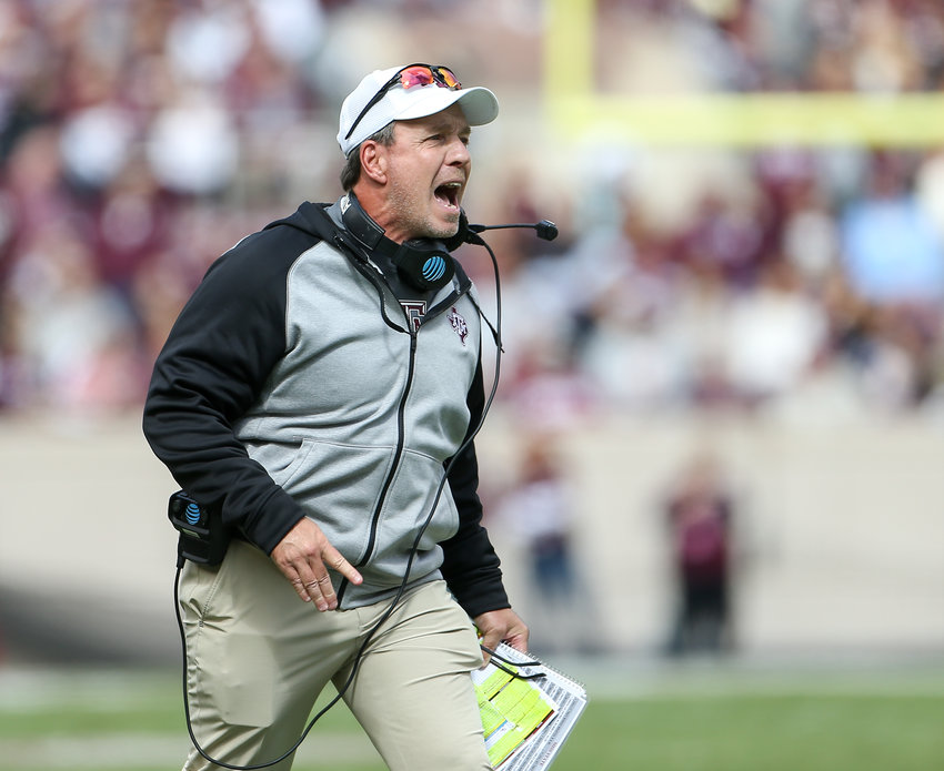 Texas A&M Aggies head coach Jimbo Fisher during an NCAA football game between Texas A&M and Mississippi State at Kyle Field in College Station, Texas, on Oct. 26, 2019.