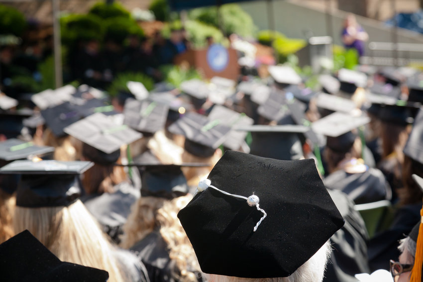 """As graduations happen all over the country, an event in Dallas on Sunday is getting a lot of attention. Lake Highlands High School valedictorian Paxton Smith decried the """"heartbeat bill"""" during her surprise graduation speech. A video of her speech has gone viral. (Dreamstime/TNS)"""