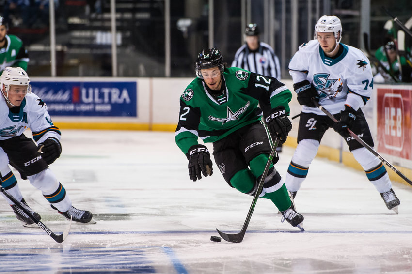 Texas Stars forward Riley Damiani won AHL Rookie of the Year. He scored 11 goals with 25 assists in 36 games this season.