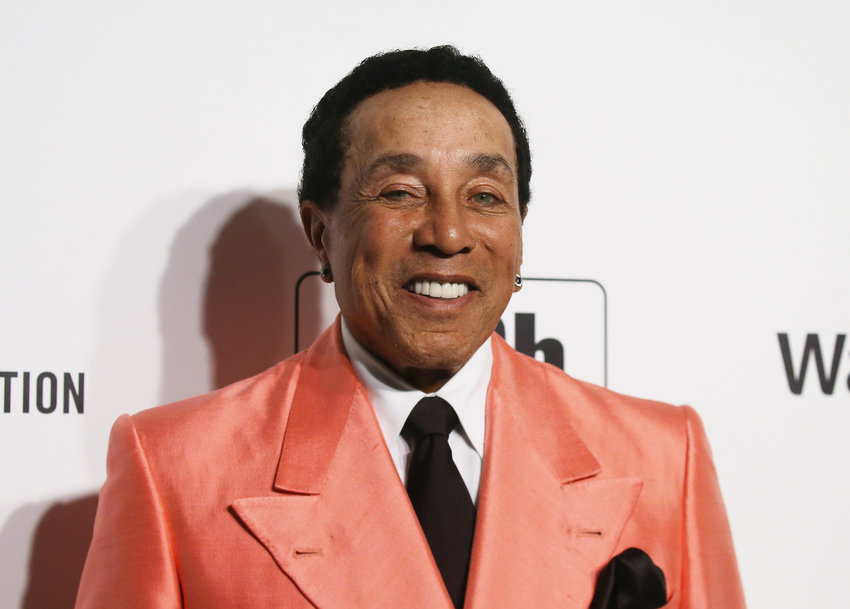 Singer Smokey Robinson attends the 28th annual Elton John AIDS Foundation Academy Awards Viewing Party on Feb. 9, 2020, in West Hollywood, California. (Michael Tran/AFP/Getty Images/TNS)