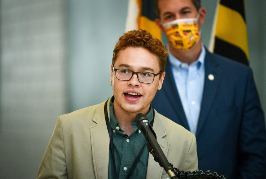 Christian Thomas, the student member of the Baltimore County Board of Education. (Jerry Jackson/The Baltimore Sun/TNS)