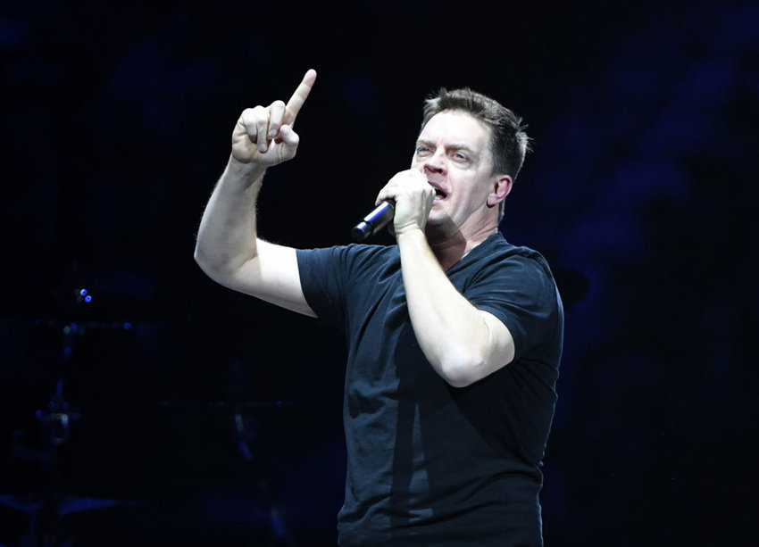 Comedian/actor Jim Breuer performs before a concert by Metallica during a stop of the band's WorldWired Tour at T-Mobile Arena on November 26, 2018 in Las Vegas, Nevada.  (Ethan Miller/Getty Images/TNS)