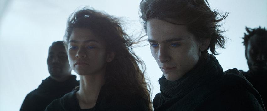 """Zendaya and Timothee Chalamet in """"Dune."""" (Warner Bros. Pictures/Legendary Pictures/TNS)"""