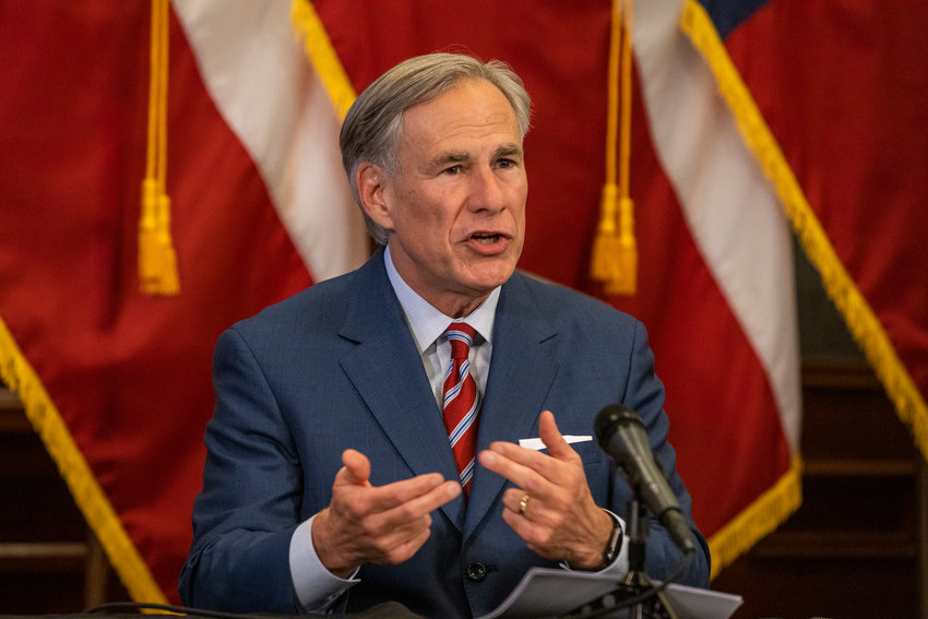 Texas Gov. Greg Abbott has signed an order barring businesses from imposing vaccine mandates. (Lynda M. Gonzalez/Pool/Getty Images/TNS)