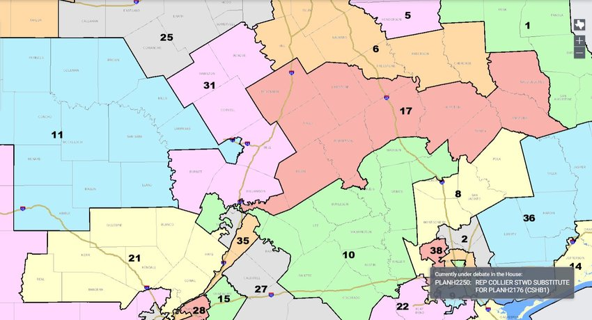 Texas Congressional Districts - Proposed New Districts