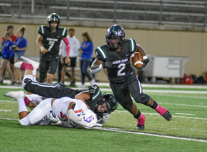 Cedar Park dominated the ground game in the second half, scoring three third-quarter touchdowns to pull away from Leander for a 37-14 win Friday night at Gupton Stadium.