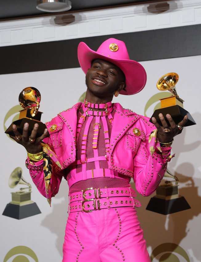 Lil Nas X backstage at the 62nd Grammy Awards at Staples Center in Los Angeles on Jan. 26, 2020. (Myung J. Chun/Los Angeles Times/TNS)