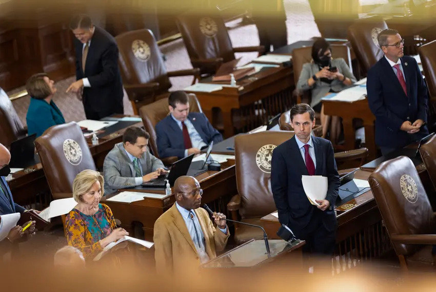 State representatives on the House floor earlier this month. Credit: Michael Gonzalez/The Texas Tribune