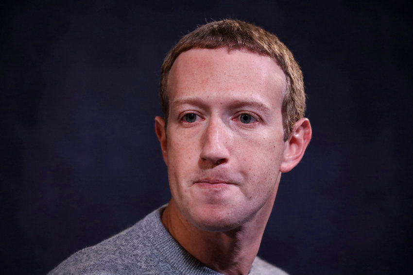 Employees at Mark Zuckerberg's Facebook took to a chat room to question policies that helped enable the Jan. 6 insurrection on the Capitol building. (Drew Angerer/Getty Images/TNS)
