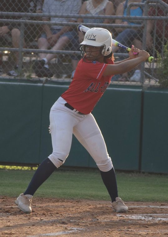 Tevanae Tate had 11 home runs for the powerful Rouse offense last year and showed off that power with another home run in the North's 14-3 win against the South in the Austin-area All-Star softball game last week.