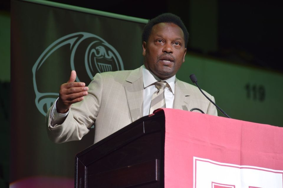 Texas A&M football coach Kevin Sumlin spoke to Texas A&M alumni at the HEB Center last week about the football season on the horizon and the rivalry with Texas.