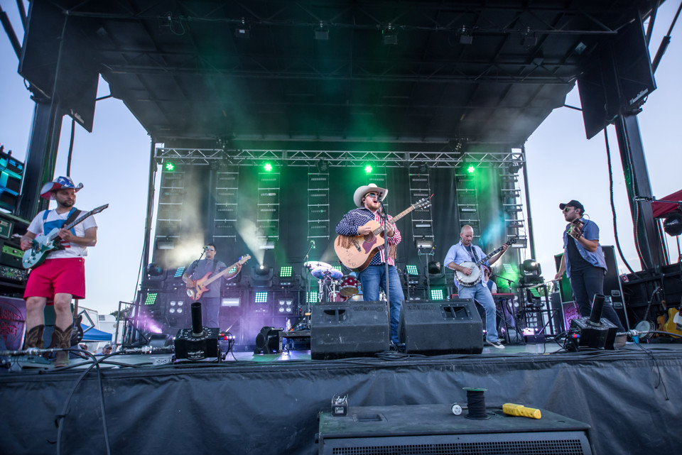 The Josh Abbott Band performs for a crowd of thousands at the Leander Liberty Fest on July 4, 2017.
