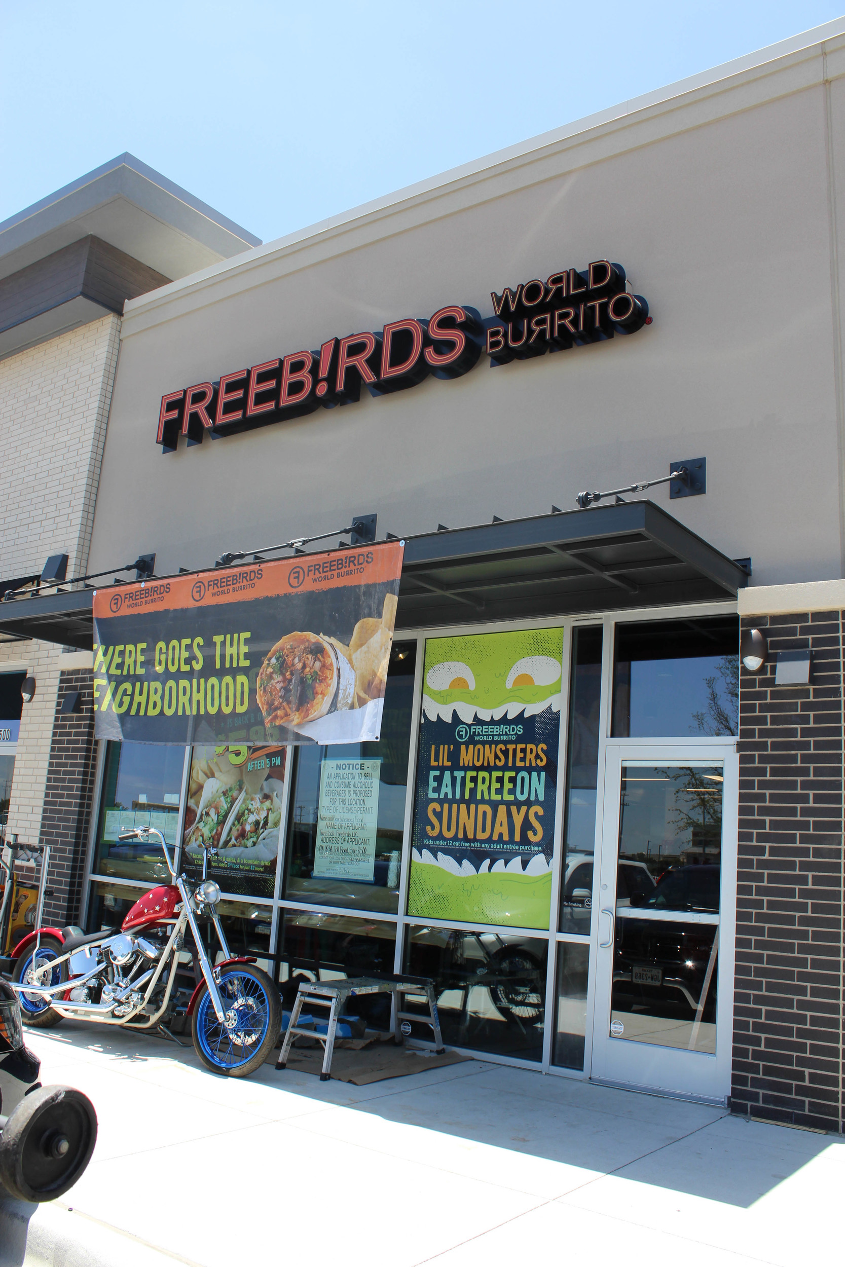 Freebirds World Burrito is now open in Cedar Park's Parke retail center at 5001 183A Toll Rd. Ste. R500.