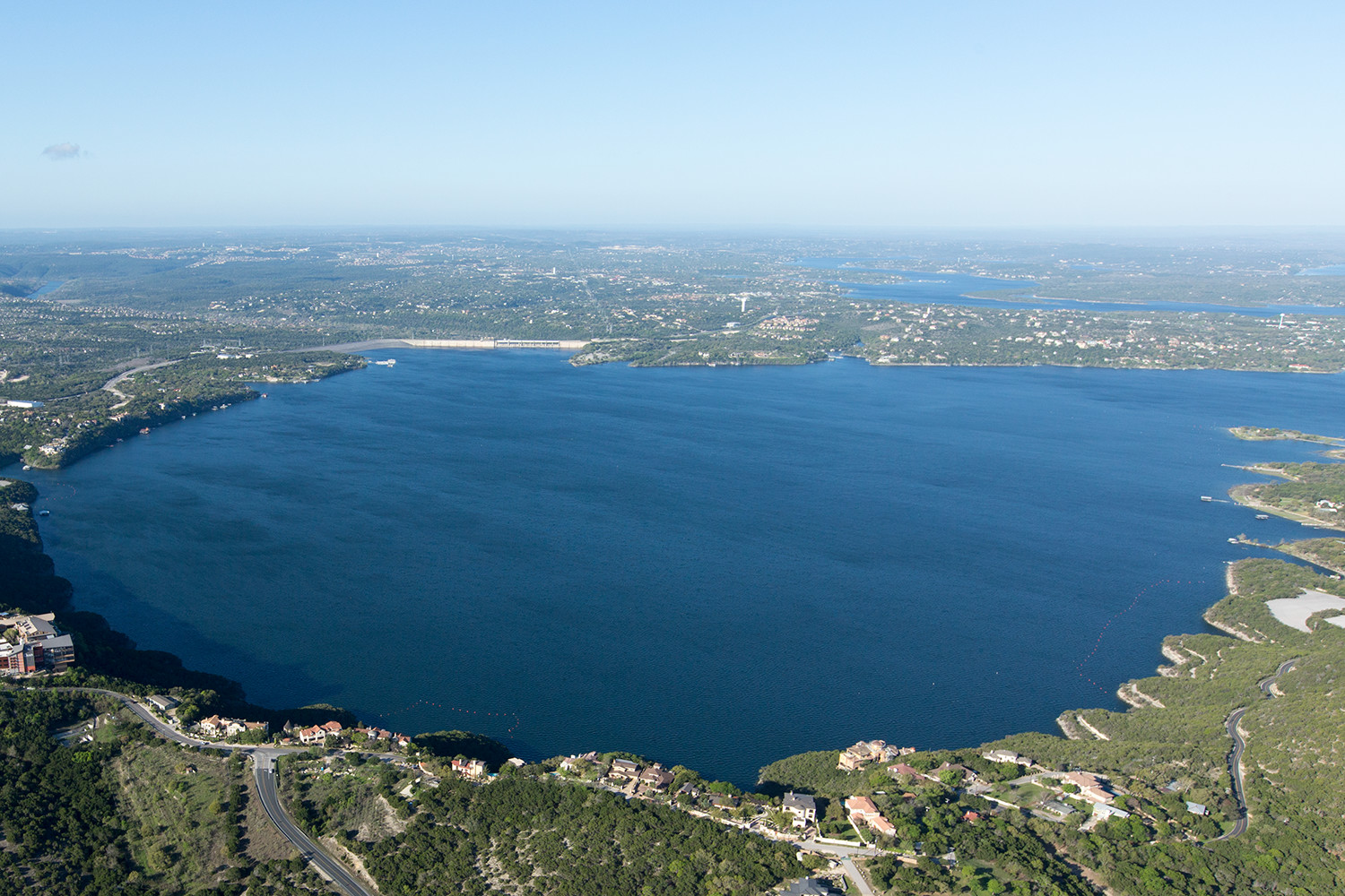 MARCH 2016: These aerial photographs of the Great Basin and Sometimes Islands of Lake Travis show the effects of the drought in Central Texas from March 2013 versus the much fuller lake in March 2016. The lake was 35 percent full in 2013, and the lake today is now 92 percent full; a difference of about 50 feet.