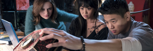 (l-r.) Joey King stars as Claire, Alice Lee as Gina and Ki Hong Lee as Ryan in WISH UPON, a Broad Green Pictures release.