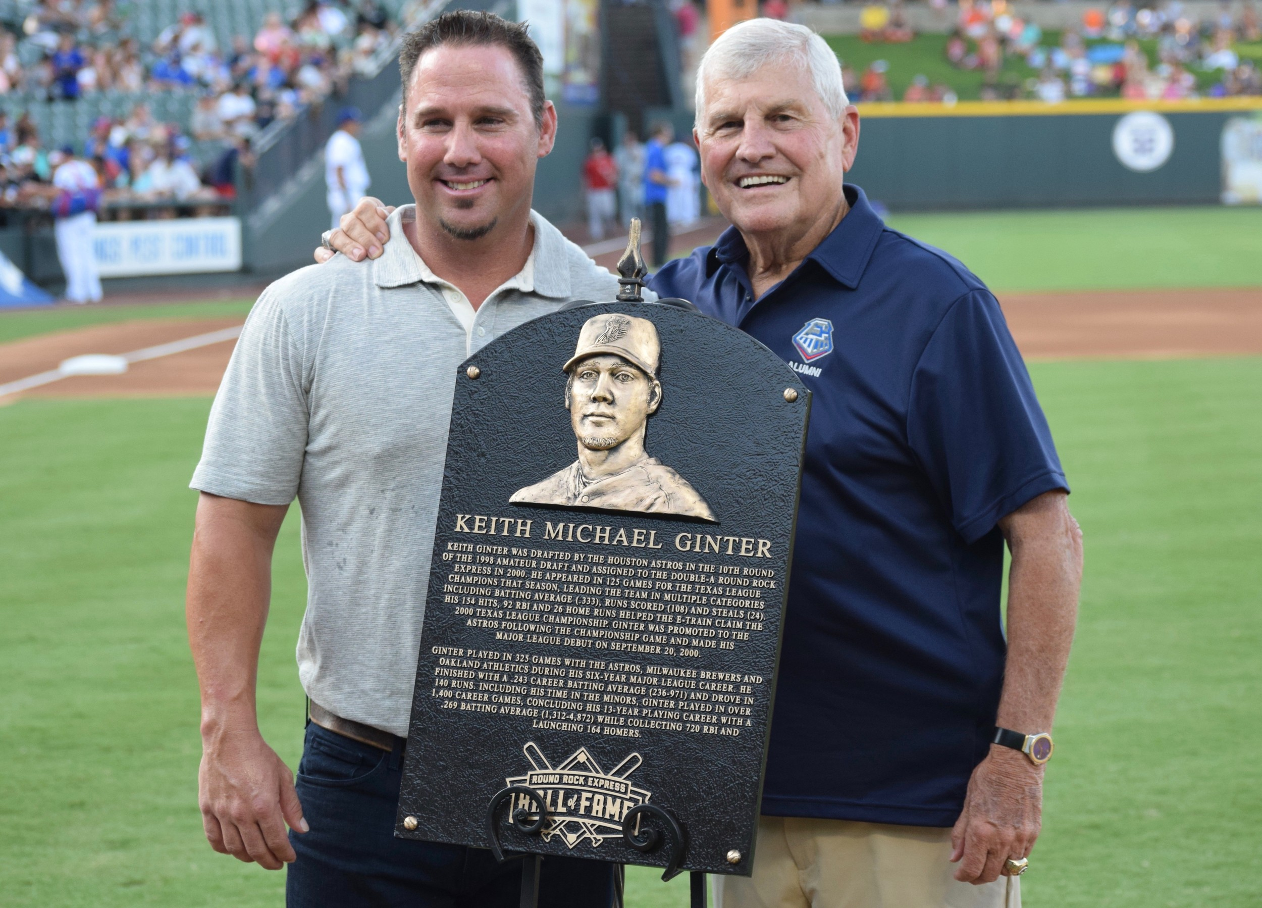 Keith Ginter and Jackie Moore are half of the four-man Round Rock Express Hall of Fame.