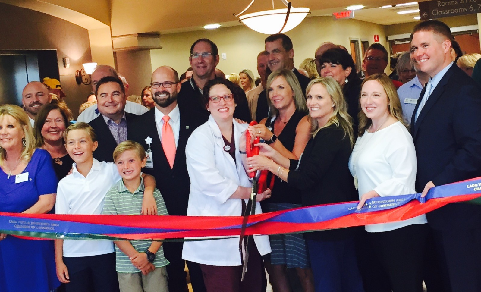 Cedar Park Regional Medical Center officials celebrate the grand opening of the Joint and Spine Center with a ribbon cutting Tuesday, Aug. 1.