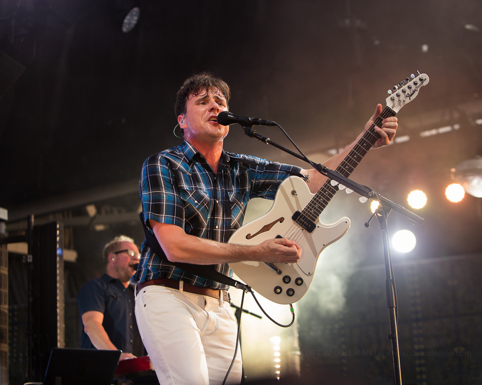 Jimmy Eat World performs at the Austin 360 Amphitheater at the Circuit of the Americas in Austin, Texas on Saturday, August 5, 2017.