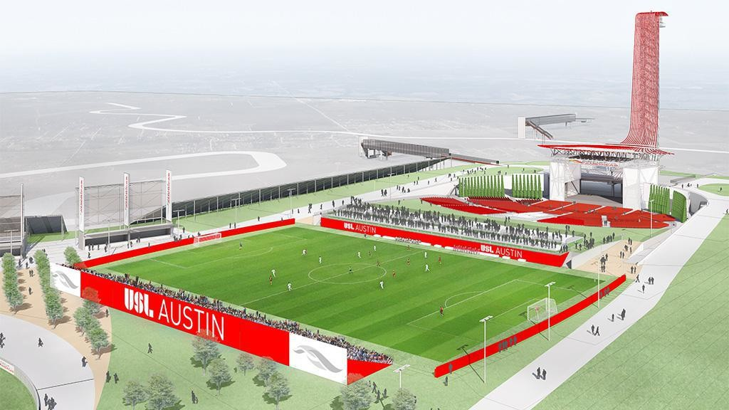 The USL is returning to Austin in 2019 with a 5,000-seat soccer-specific stadium at Circuit of The Americas.