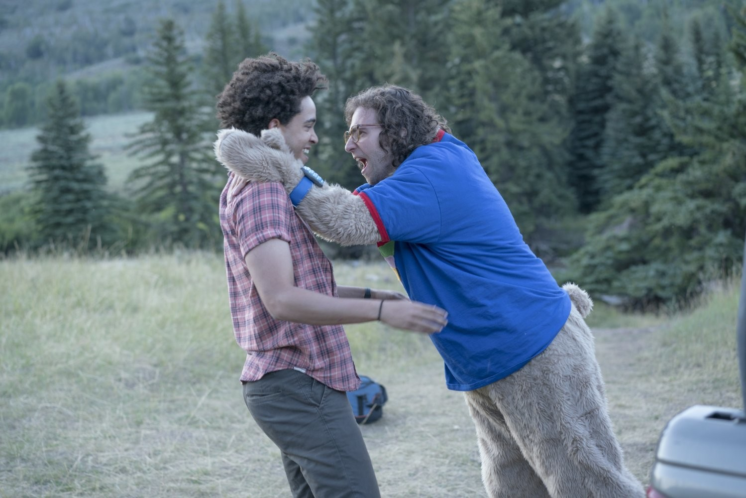 "Kyle Mooney and Jorge Lendeborg Jr. star in ""Brigsby Bear."""
