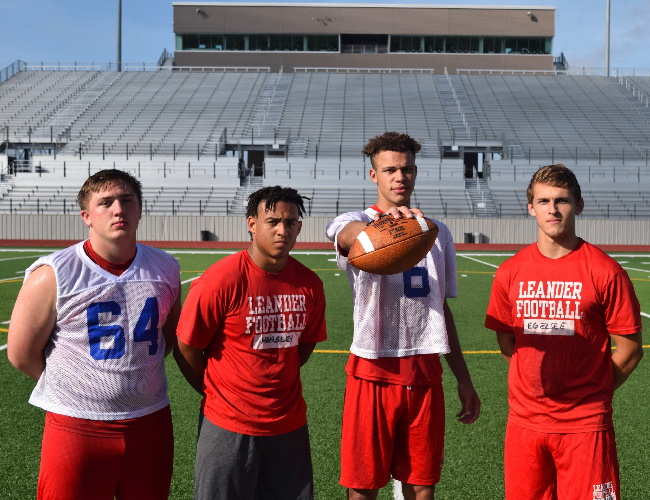 (From left to right) Jeremy Kracy, Alex Hensley, Dalton Flowers, and Jake Egelsee are just four of the two-way players that hope to take Leander back to the playoffs for the first time in three seasons.
