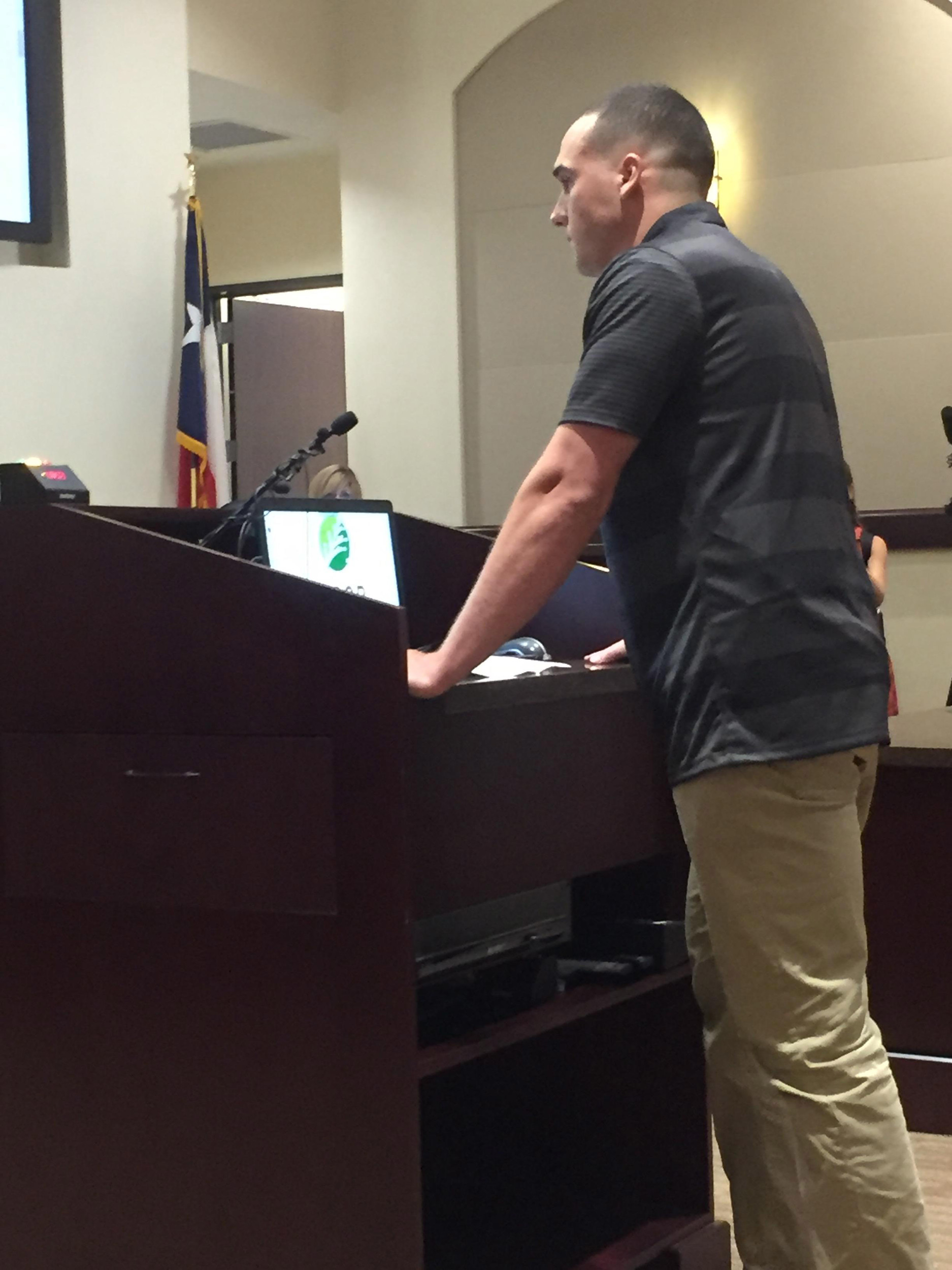 Greg Kelley appeared before the Cedar Park City Council Thursday and asked that the two police officers  who handled the investigation that led to his conviction be fired.