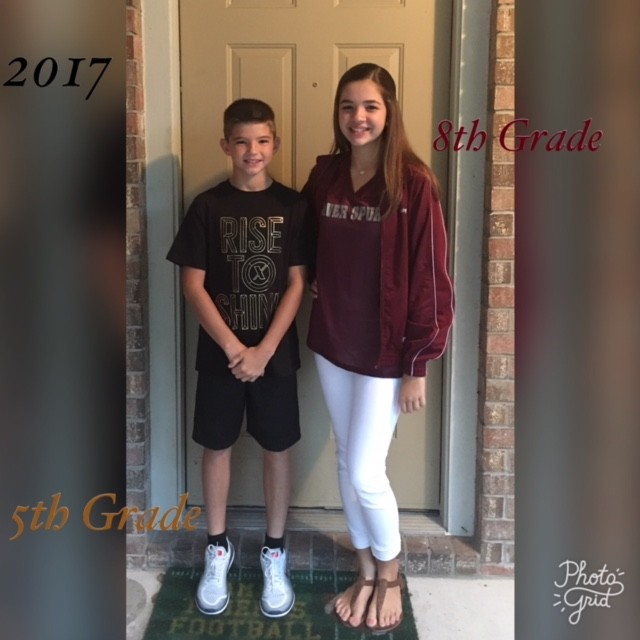 Bryce Johns, 5th grade at Block House Creek and Abby Johns, 8th Grade at Wiley Middle School