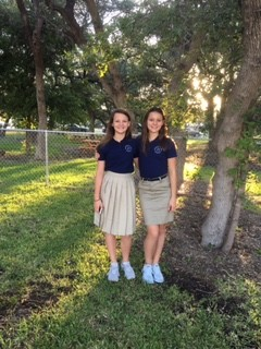 Lillian and Annabel Curtis, 7th and 8th grade Founders Classical Academy