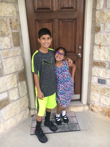 Austin Simon 6th grade Henry Middle School, Aniya Simon 2nd grade Reagan Elementary School