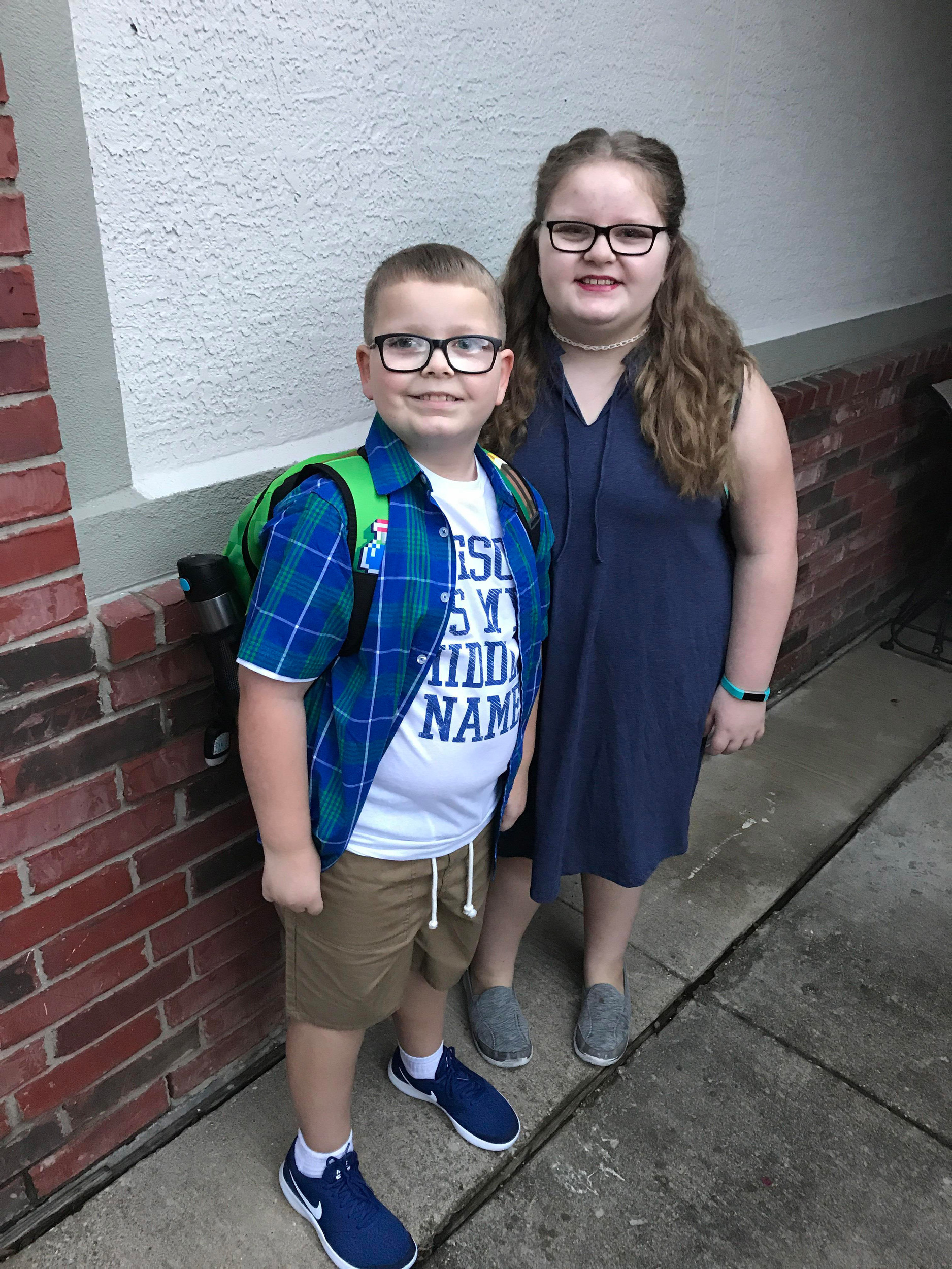 Parker West, 2nd grade and Madison West, 5th grade Naumann Elementary