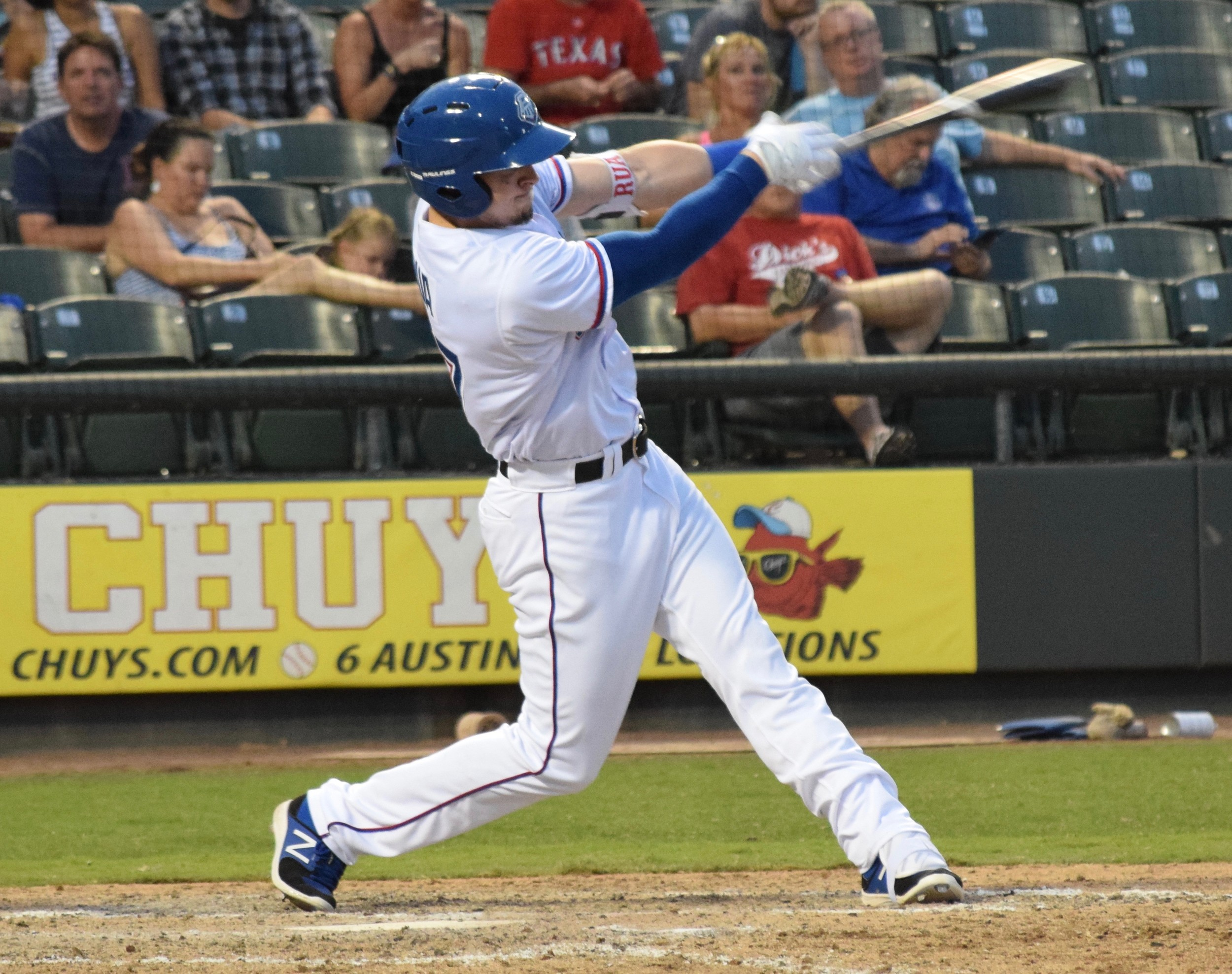 Ryan Rua hit a two-run home run and the Express beat the Colorado Springs Sky Sox 2-1 on Wednesday night.