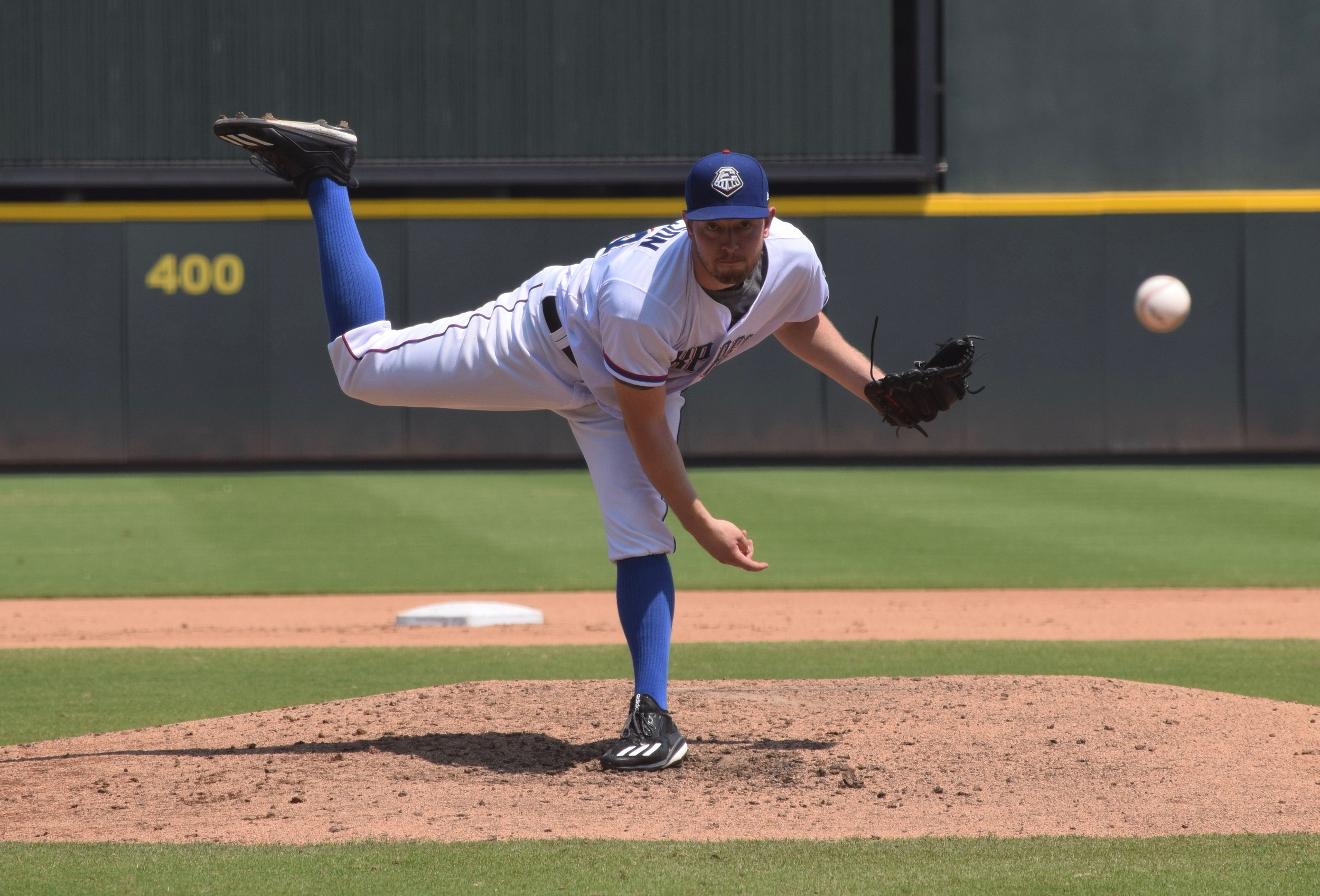 Adam Sampson allowed one run on three hits with three strikeouts in five innings in Round Rock's season-ending 6-1 win over Oklahoma City Monday afternoon.
