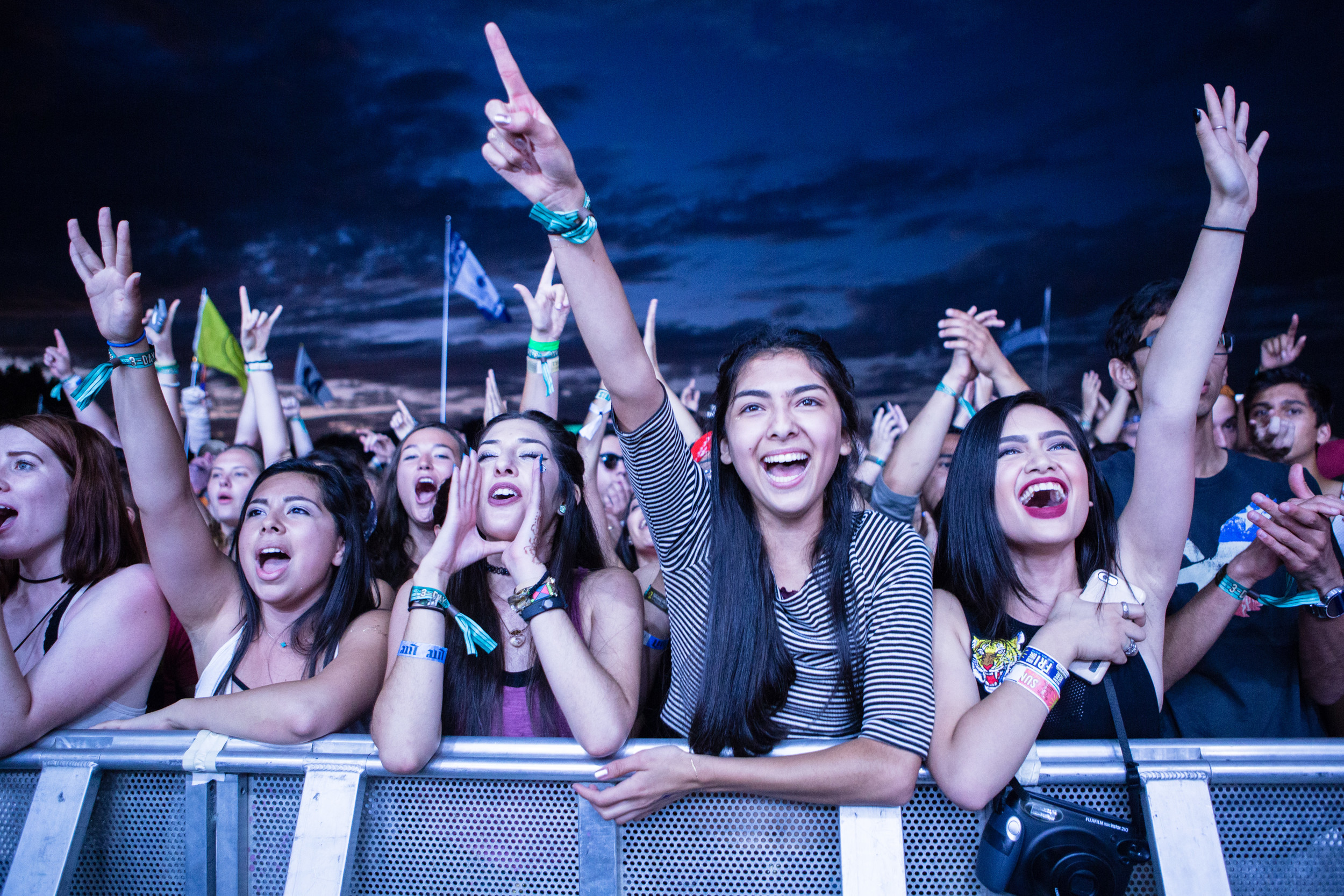 Fans at Austin City Limits Music Festival cheer on Two Door Cinema Club, Oct. 1, 2016.