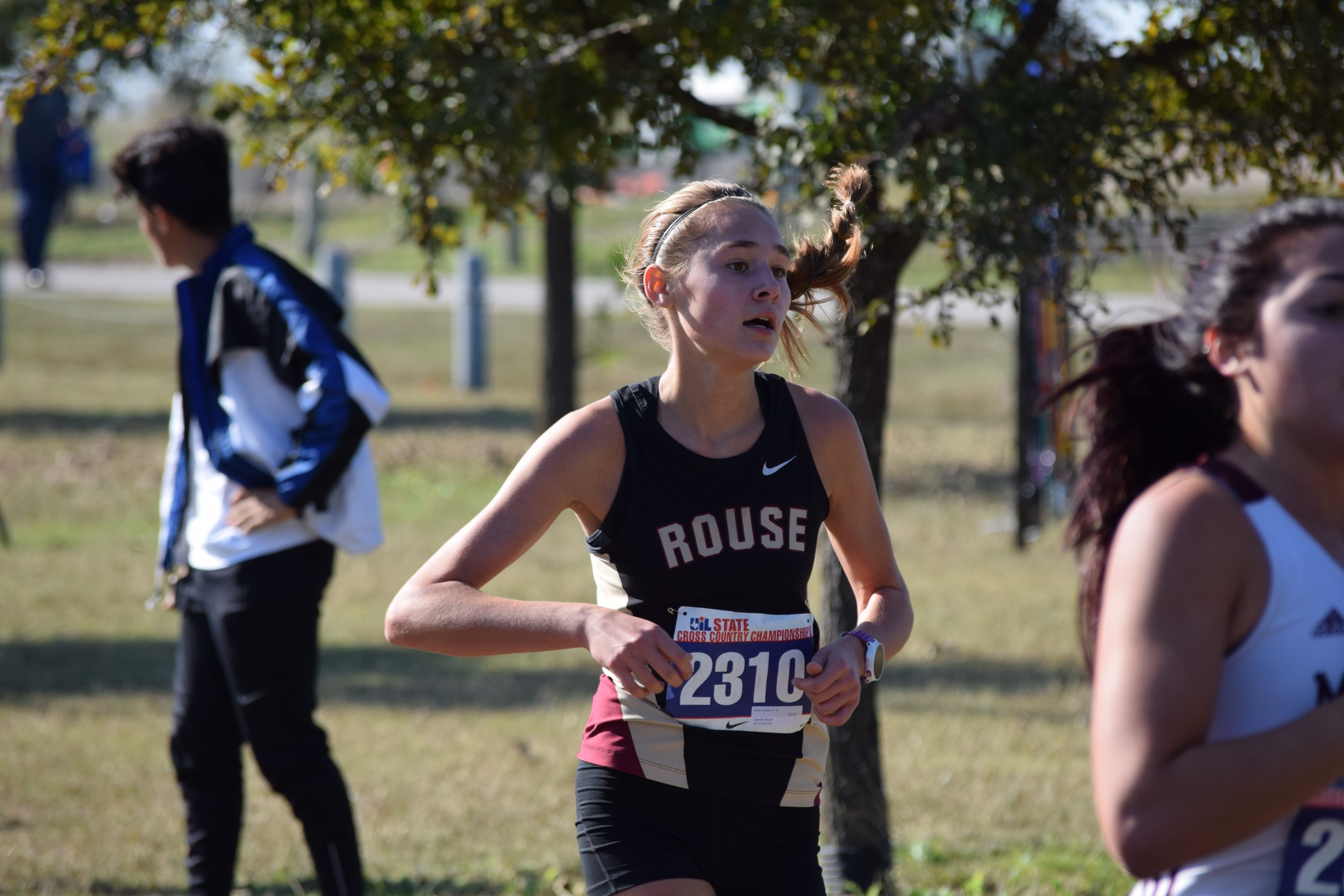 Rouse junior Emily Forster is the No. 1 runner for the Lady Raiders and finished second at the Pflugerville meet last Saturday with a time of 19:11.13.