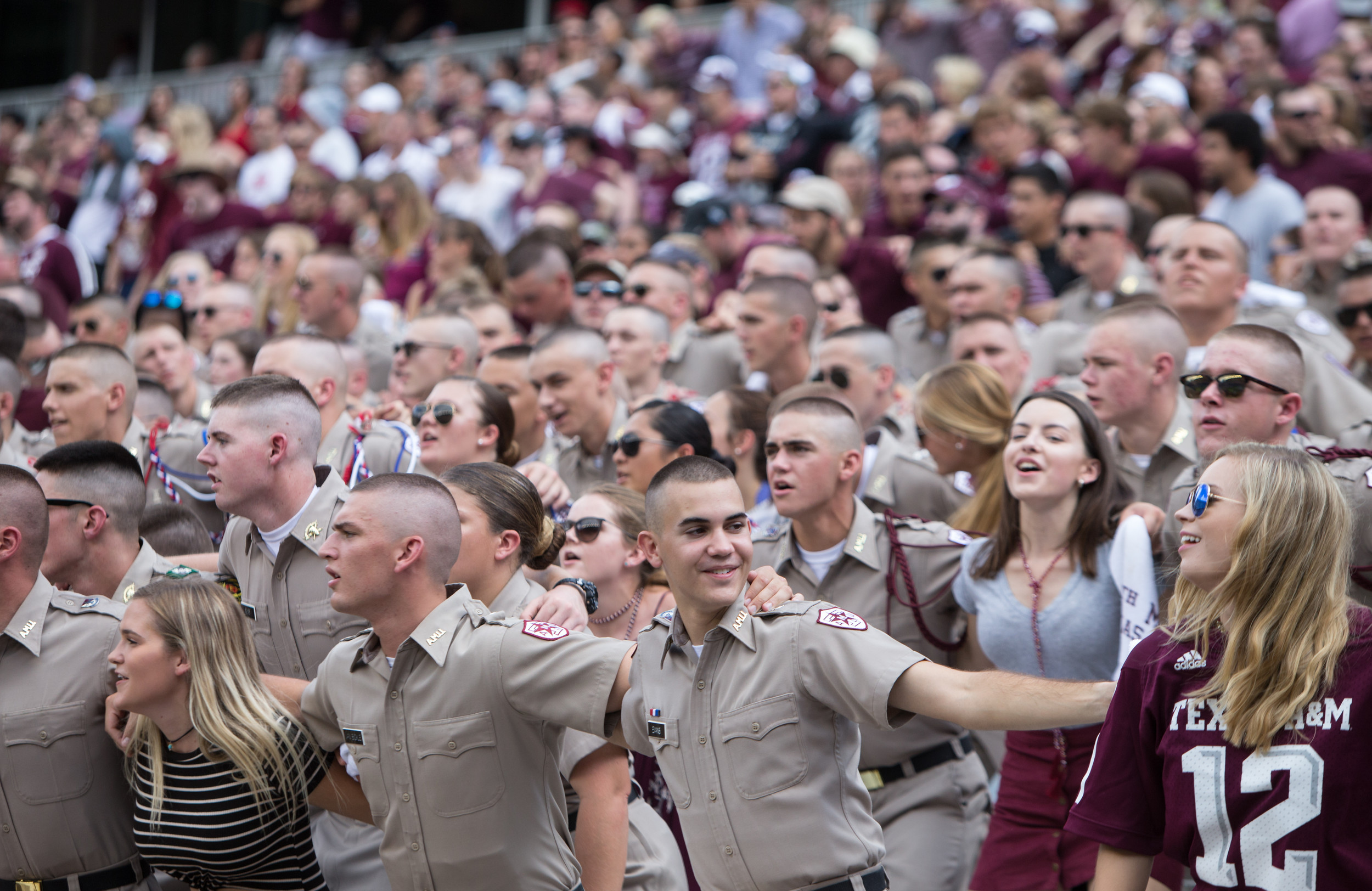 "When the Texas A&M's 12th man sings the ""Aggie War Hymn"" during football games, the entire press box shakes. This is just one of the traditions that make football so special."