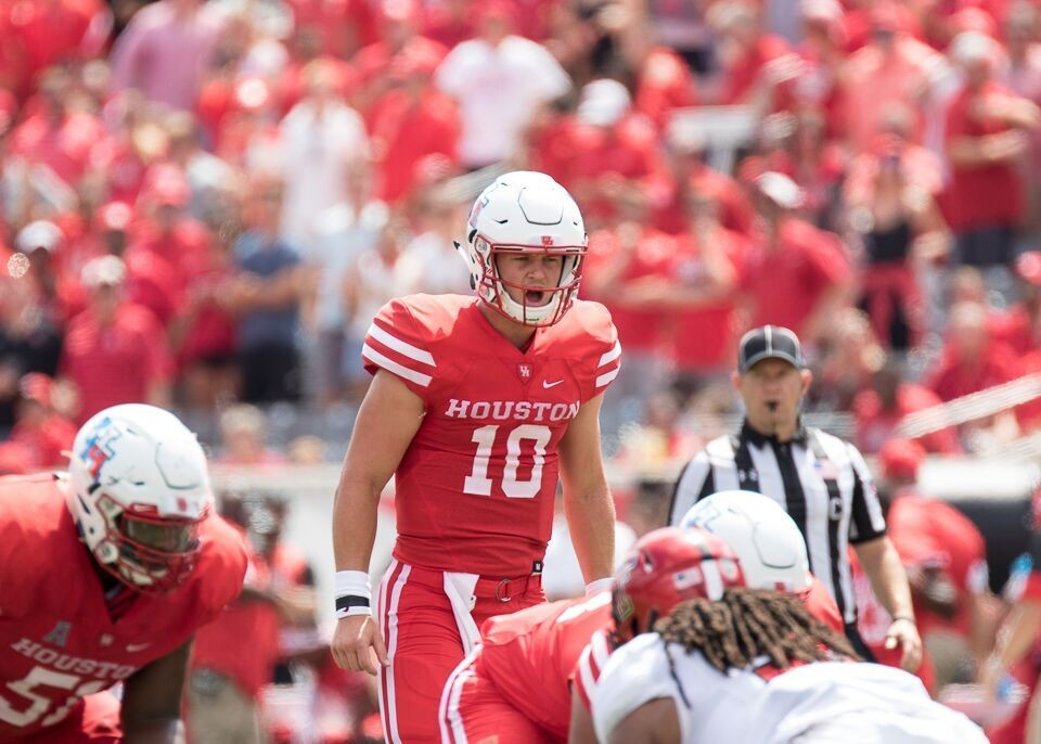 Houston quarterback Kyle Allen went 24-for-39 passing for 217 yards, a touchdown and a pair of interceptions before being replaced by Kyle Postma in the fourth quarter of Saturday's 27-24 loss to Texas Tech.