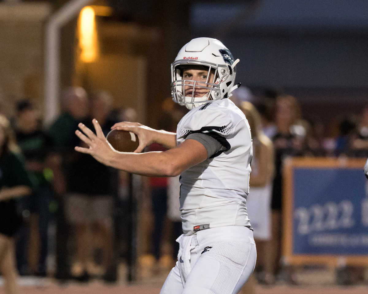 Cedar Park senior quarterback Mak Sexton went 19-for-32 passing for 236 yards and five touchdowns in Friday's 53-3 win over East View.