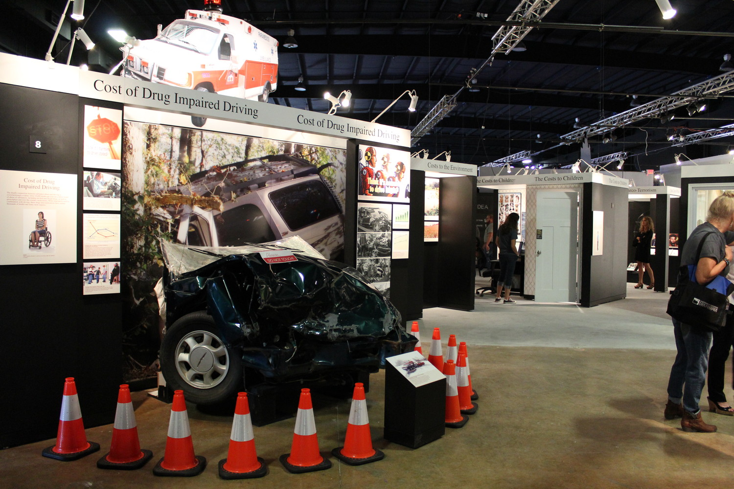 "The DEA's national touring exhibition, ""Drugs: Costs and Consequences"" includes real wreckage from a drug-related car accident. The exhibit is now on display at the Texas Museum of Science and Technology."