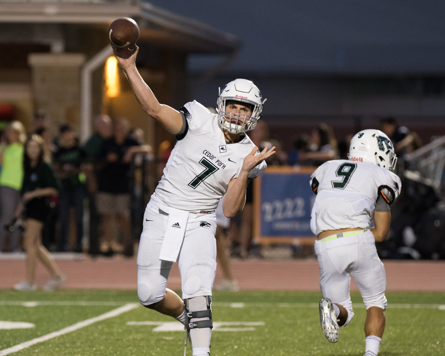 Mak Sexton only played in the first half Friday night, throwing for 188 yards and five touchdowns to help the Timberwolves shutout Rouse 41-0.