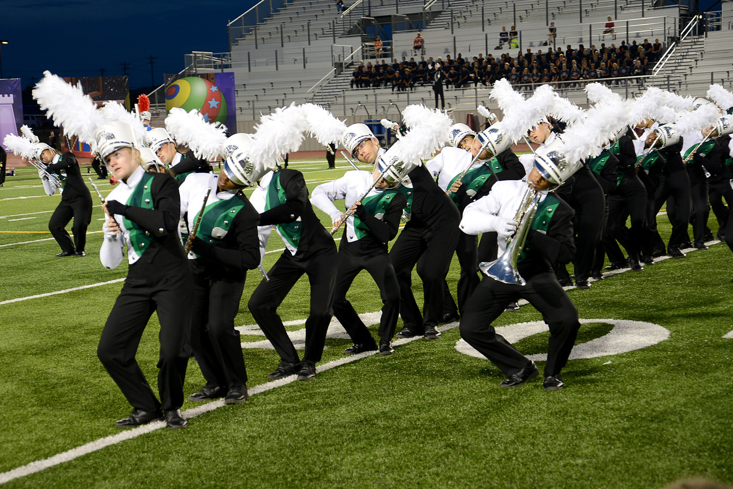 Leander ISD's annual Festival of Bands took place on Monday, Sept. 25, at Bible Stadium in Leander. The event featured all LISD high school marching bands and auxiliaries in exhibition marching performances as well as seated performances by LISD's middle schools.