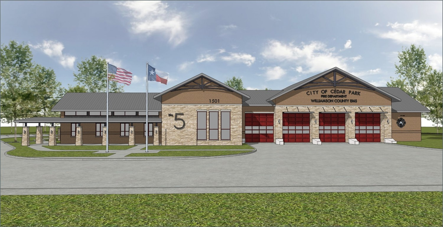 This rendering of Fire Station No. 5 shows what the completed station will look like in fall of 2018.
