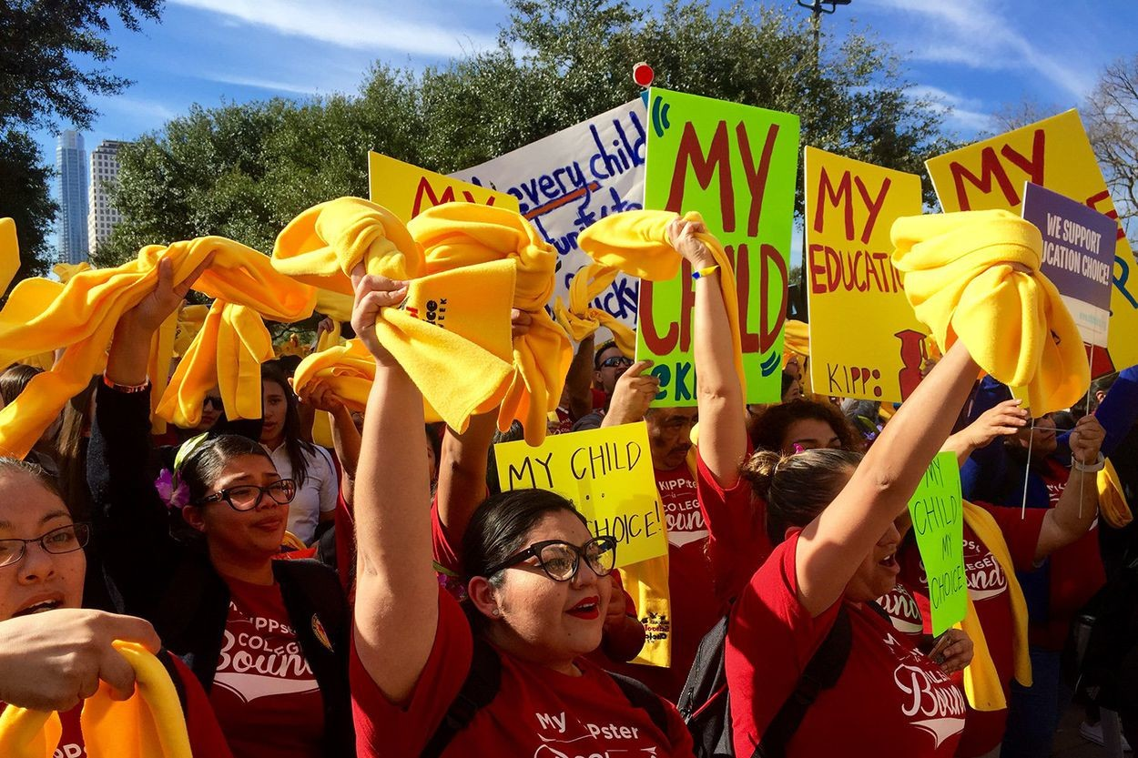 Children from charter and private schools all over Texas turned out for the 85th legislative session's National School Choice Rally on Jan. 24, 2017.