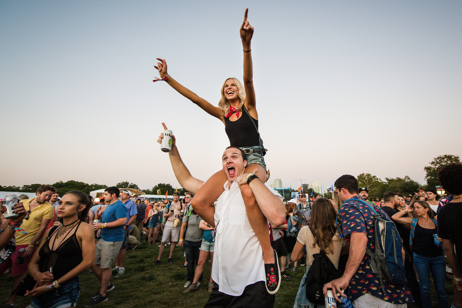 Fans cheer during Austin City Limits music festival, Friday, Oct. 6.