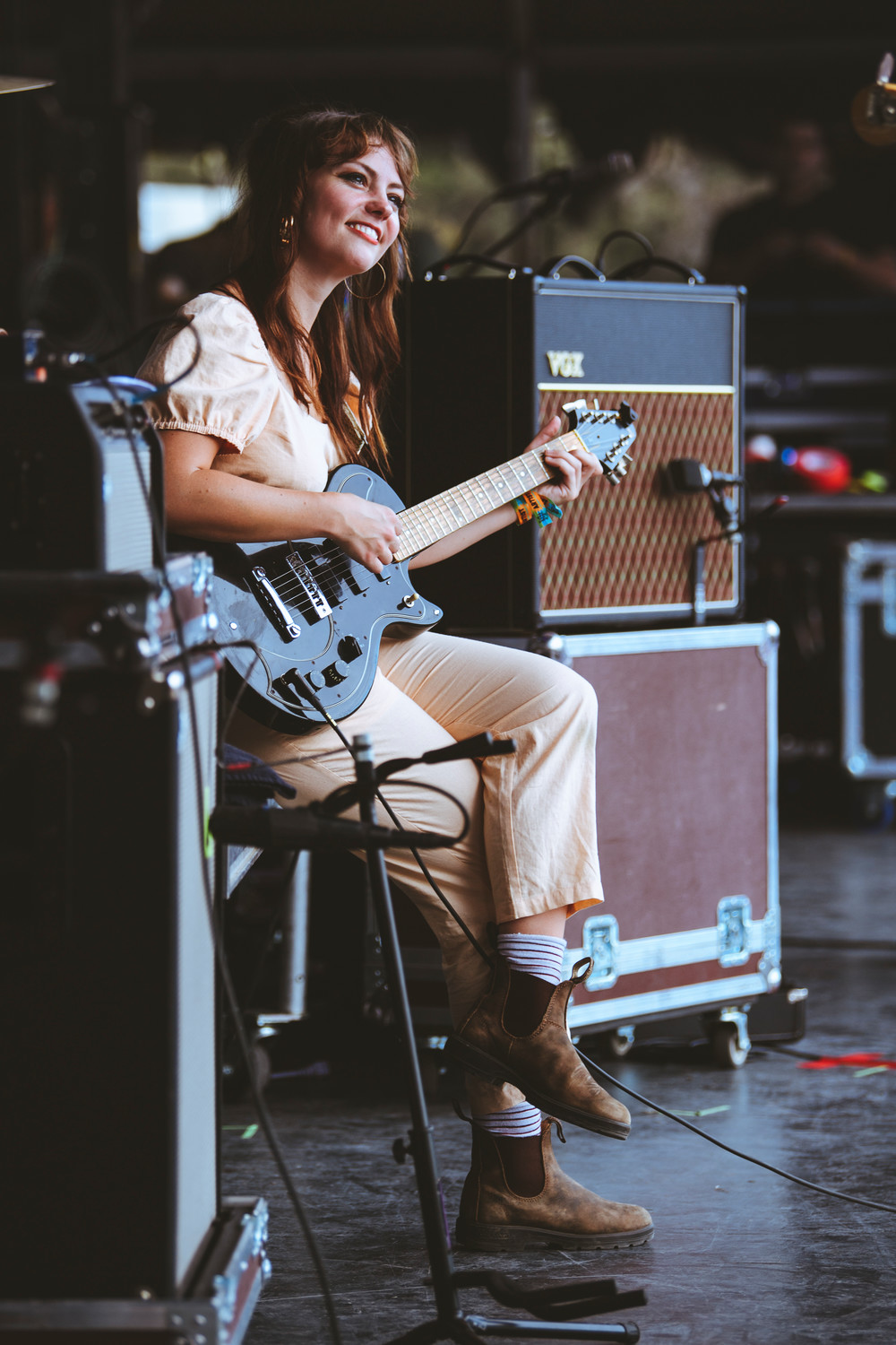 Angel Olsen performs at Austin City Limits Festival, Saturday, Oct. 7.