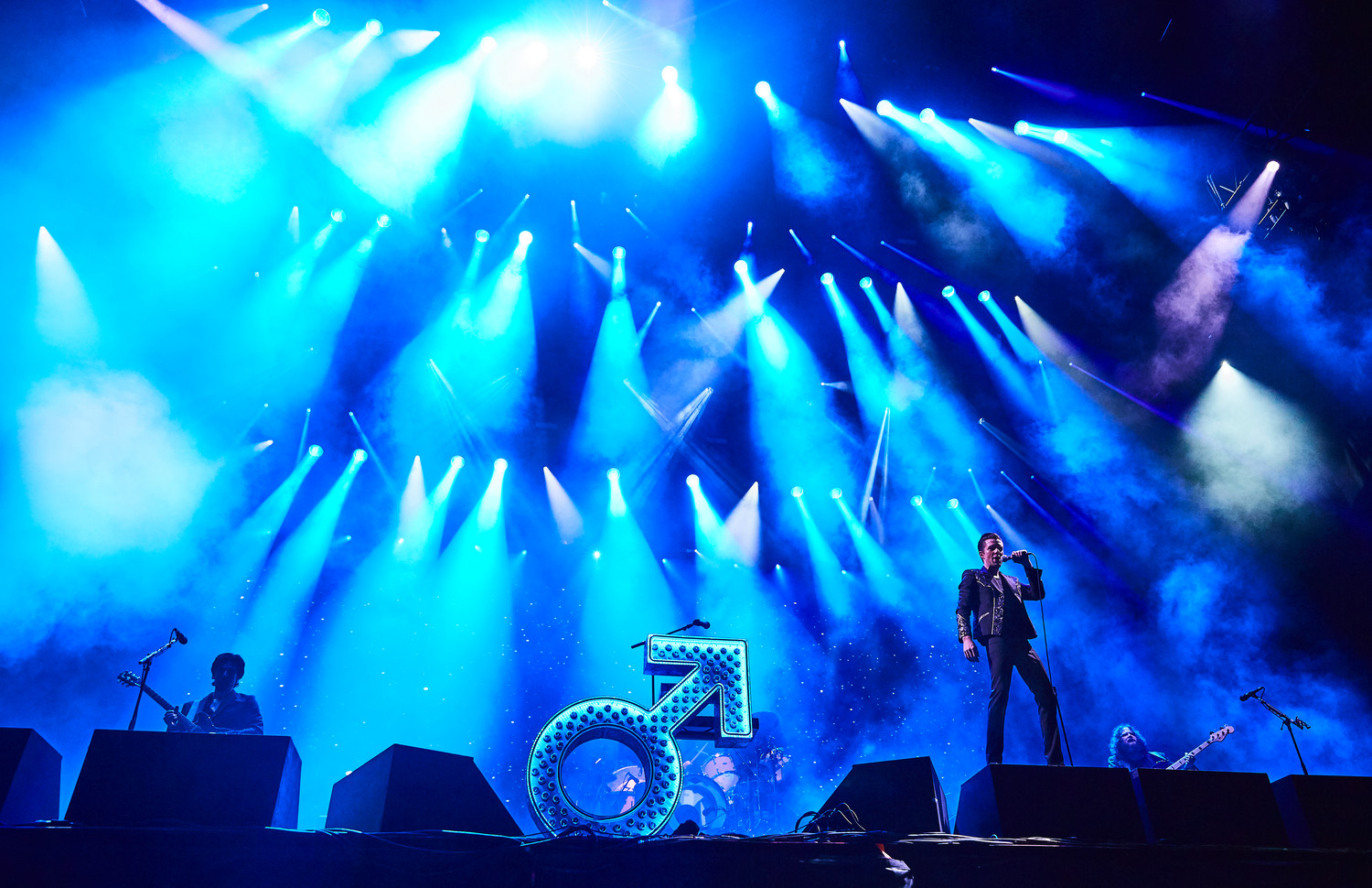 The Killers perform at Austin City Limits Music Festival, Sunday, Oct. 8.